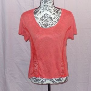 Cotton On Coral T-Shirt Top Small S